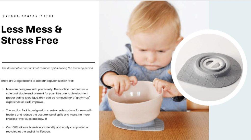 barneservise med sugekopp